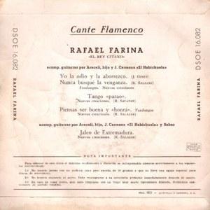 Rafael Farina - Odeon (EMI)DSOE 16.082