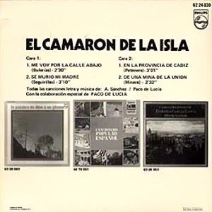 Camarón De La Isla, El - Philips62 24 030
