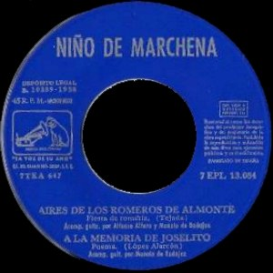 Pepe Marchena - La Voz De Su Amo (EMI)7EPL 13.084