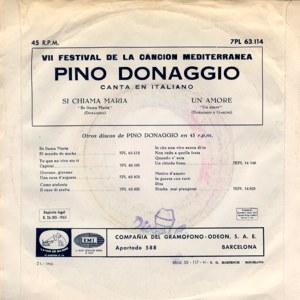 Pino Donaggio - La Voz De Su Amo (EMI)7PL 63.114