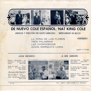 Nat King Cole - Capitol EAP 1-1749
