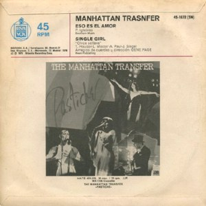 Manhattan Transfer, The - Hispavox 45-1672