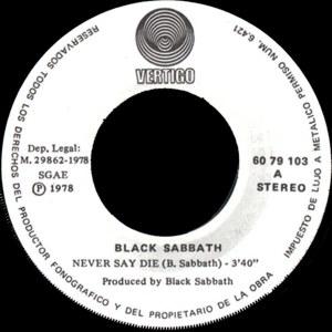 Black Sabbath - Polydor60 79 103