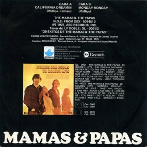 Mama´s And The Papa´s, The - ABC Records SG-0019