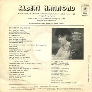 Albert Hammond - Epic (CBS)EPC 5044