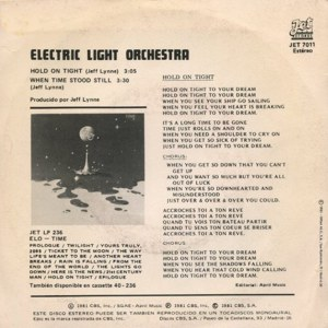 Electric Light Orchestra - Epic (CBS)JET 7011