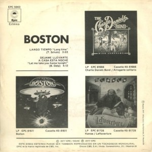 Boston - Epic (CBS)EPC 5043