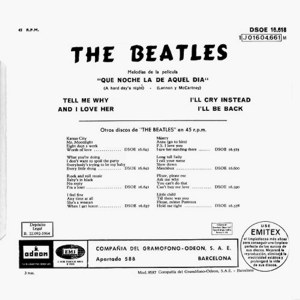 Beatles, The - Odeon (EMI)J 016-004.661