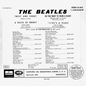 Beatles, The - Odeon (EMI) J 016-004.656