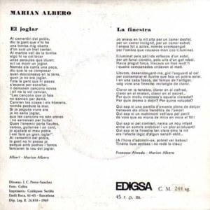 Marian Albero - EdigsaCM 244 SG