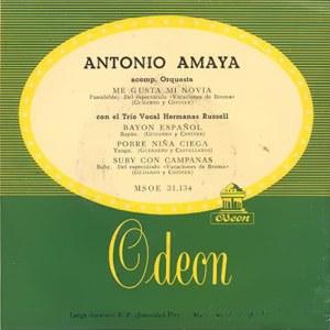 Antonio Amaya - Odeon (EMI)MSOE 31.134