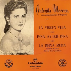 Moreno, Antoñita - ColumbiaECGE 70061