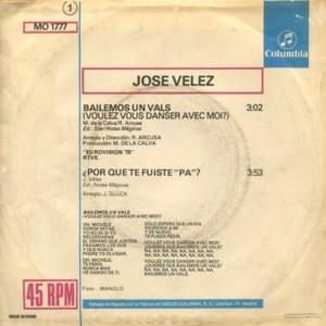 José Vélez - ColumbiaMO 1777