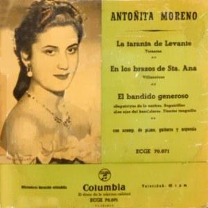 Moreno, Antoñita - ColumbiaECGE 70071