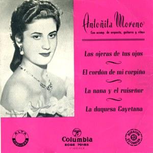 Moreno, Antoñita - ColumbiaECGE 70165