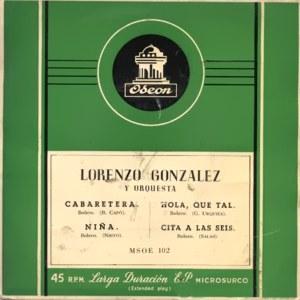 González, Lorenzo - Odeon (EMI)MSOE 102