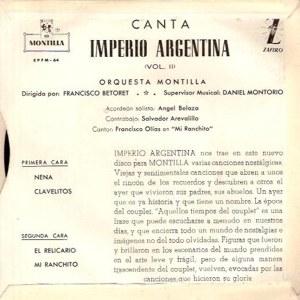 Imperio Argentina - Montilla (Zafiro)EPFM- 64