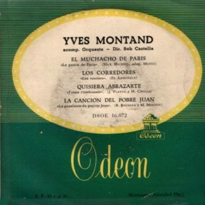 Montand, Yves - Odeon (EMI) DSOE 16.072