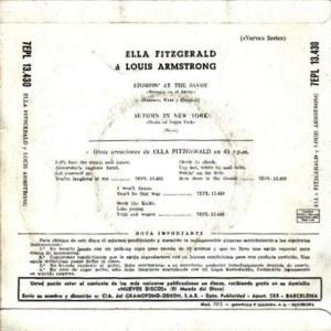 Louis Armstrong - La Voz De Su Amo (EMI)7EPL 13.430