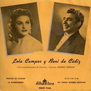 Cádiz, Beni De - Alhambra (Columbia)EMGE 70360