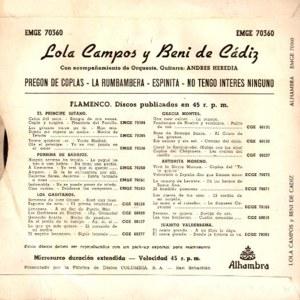 Beni De Cádiz - Alhambra (Columbia)EMGE 70360
