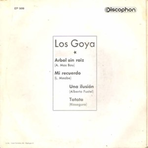 Los Goya - DiscophonEP 509