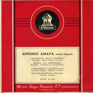 Antonio Amaya - Odeon (EMI)DSOE 16.045