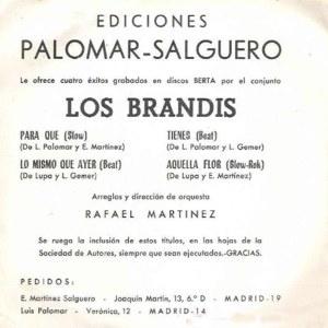 Brandis, Los - Berta (Philips)FM68-158