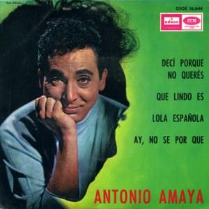 Amaya, Antonio - Odeon (EMI)DSOE 16.644
