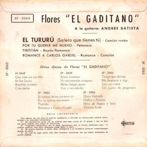 Florentino (Flores ´´El Gaditano´´) - SAEFSF-2065