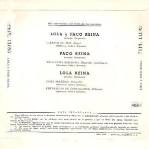 Varios Copla Y Flamenco - La Voz De Su Amo (EMI)7EPL 13.098