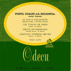 Ugalde, Purita - Odeon (EMI)DSOE 16.073
