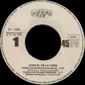 Juan El De La Vara - Perfil (Divucsa)P-109