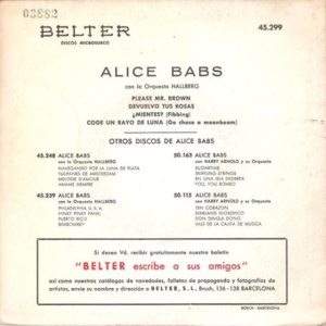 Alice Babs - Belter45.299