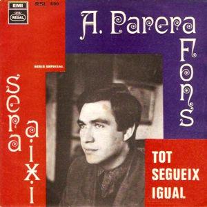 Parera Fons, Antoni - Regal (EMI)RSL 600