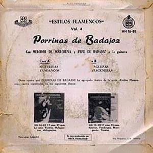 Porrina De Badajoz - HispavoxHH 16- 88
