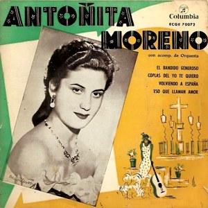 Antoñita Moreno - ColumbiaECGE 70072