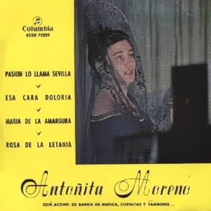 Antoñita Moreno - ColumbiaECGE 70259