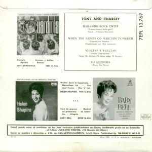 Tony And Charley - La Voz De Su Amo (EMI)7EPL 13.769