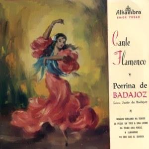 Porrina De Badajoz - Alhambra (Columbia)EMGE 70260
