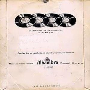 Porrina De Badajoz - Alhambra (Columbia)EMGE 70383