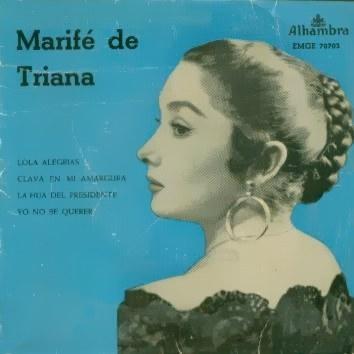 Triana, Marifé De - Alhambra (Columbia)EMGE 70703