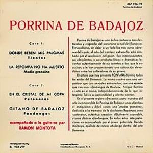 Porrina De Badajoz - Fontana467 706 TE