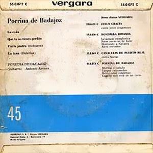 Porrina De Badajoz - Vergara55.0.072 C