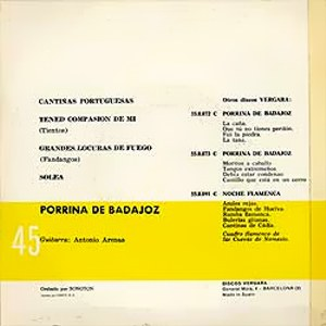 Porrina De Badajoz - Vergara55.0.074 C
