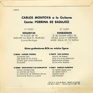 Porrina De Badajoz - RCA3-20476