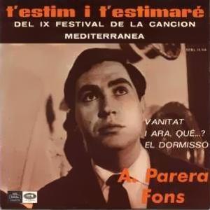 Parera Fons, Antoni - Regal (EMI)SEDL 19.556
