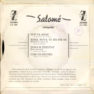 Salomé - ZafiroZ-E 459