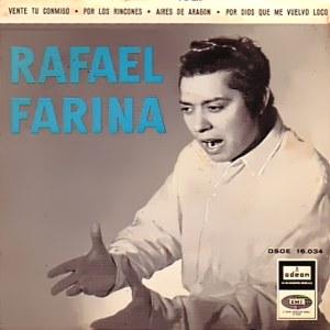 Rafael Farina - Odeon (EMI)DSOE 16.034