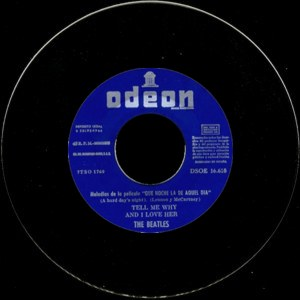 Beatles, The - Odeon (EMI)DSOE 16.618